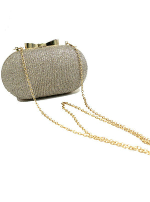 Golden Evening Clutch Bag Women Bags Wedding Shiny