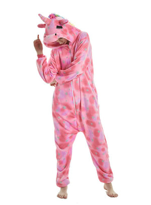 Eyes Unicorn Winter Adults Animal Pajamas Sets