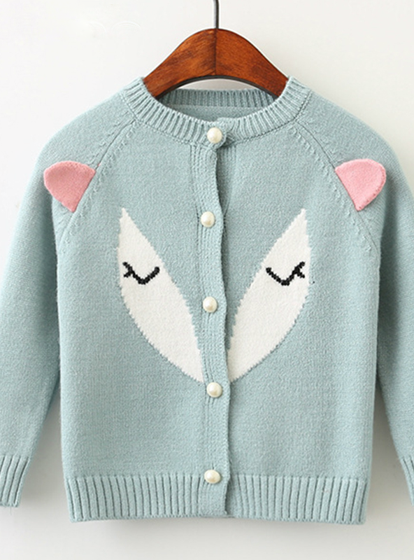 Long Sleeve Sweater For Children Knitted