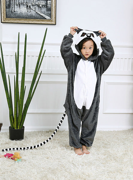 Animal One Piece Pajama Long Tail Monkey Pajama