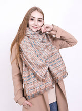 Winter Plaid Scarf Long Warm Cashmere Imitation