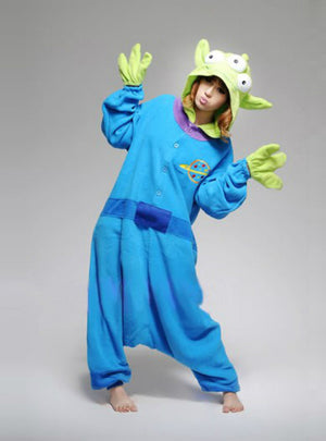 Three Eyed Monster Costume Pajamas Sleepwear Onesie