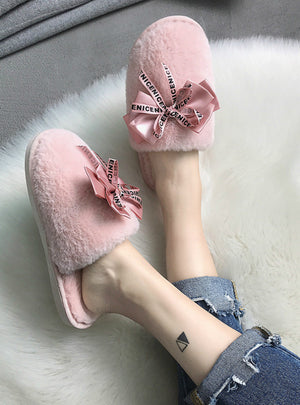 Women Home Slippers Winter Warm Shoes