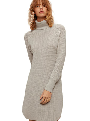 Full Sleeve Knitted Split Lady Tops Streetwear Loose
