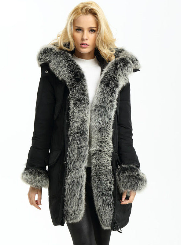 Real Fur Super Large Fur Hood Lady Down