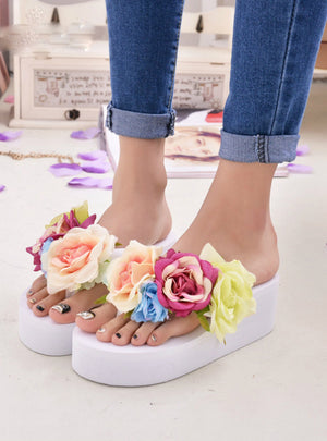 Wedges Flip Flops Platform Slippers Shoes Slippers Zapatillas