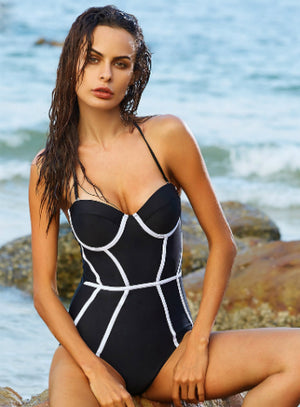One Piece Swimwear Swimsuit Women Bathing Suit