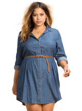 Casual Loose Dress Long Sleeve Big Size Female Clothing