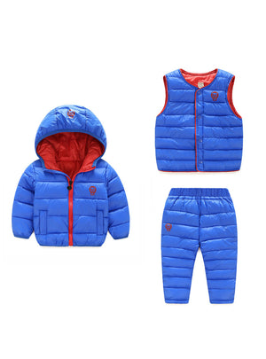 Boys Girls Clothing Sets Winter 3Pcs Hoody
