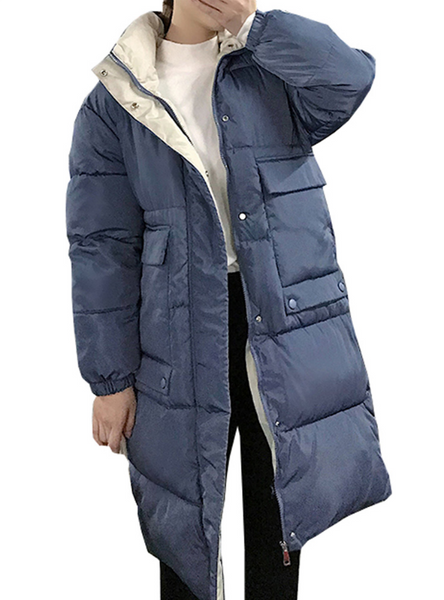 Hooded Ladies Coat Long Coats Parka Oversize