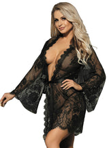 Black White Lace Sexy Nightwear Lace Nightwear