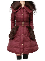 Winter Outerwear With Detachable Fur Warm Parka
