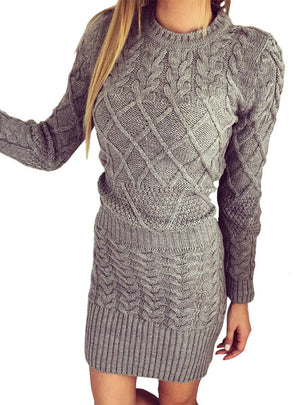 Sweater Warm Dresses  Long Sleeve Bodycon Dress