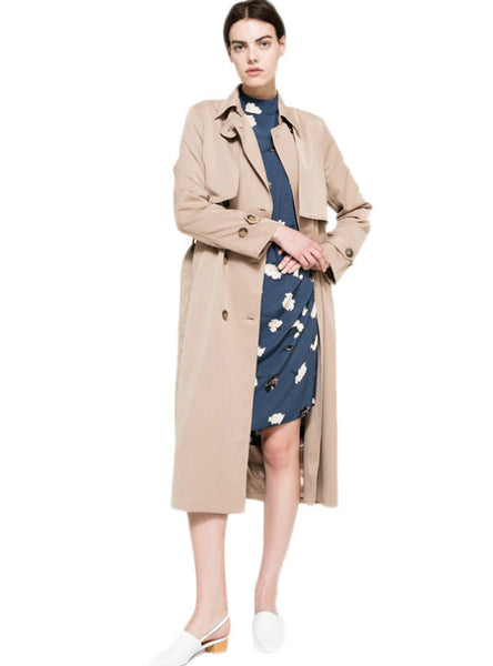 Woman Classic Double Breasted Trench Coat