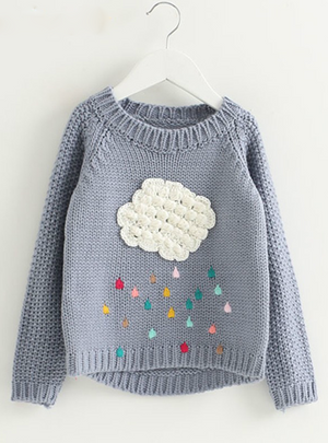 Children Sweaters Cartoon Cloud Long Sleeve