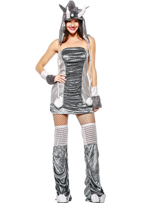 Silver Grey Ape cosplay Game Clothing Halloween Clothing