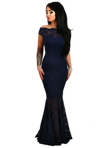Lace Dresses Off Shoulder Ladies Maxi Dress