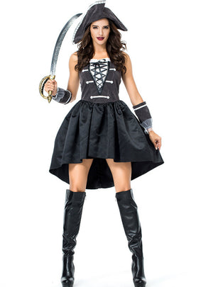 Halloween Pirate Skirt Costume Pirate Captain