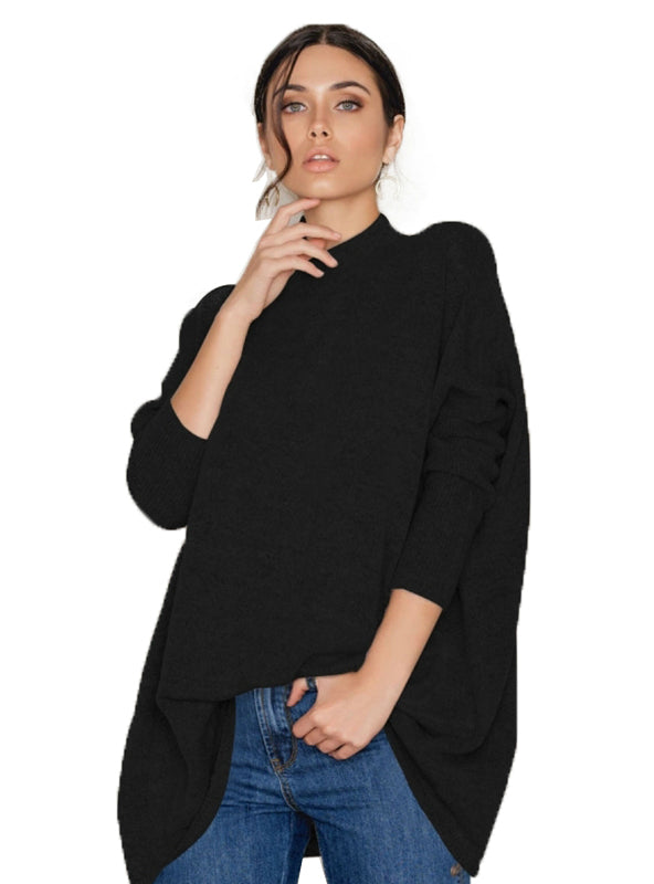 Women Casual Solid Black Full Sleeve Pullovers Brief