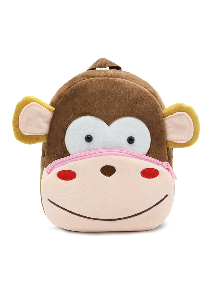 3D Monkey Cartoon Plush Children Backpacks