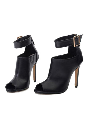 Women Pumps Ladies Sexy Buckle Strap Roman High Heels