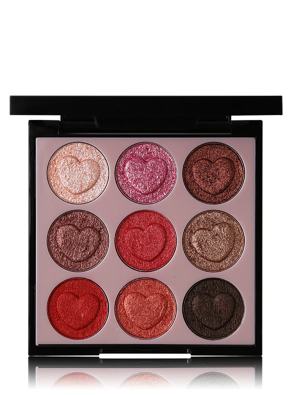9 Colors Heart Shaped Eye Shadow Makeup Eyes