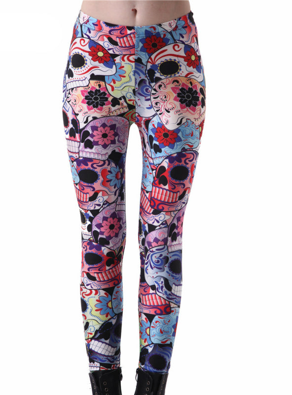 Digital Printed Milk Vintage Fitness Pants