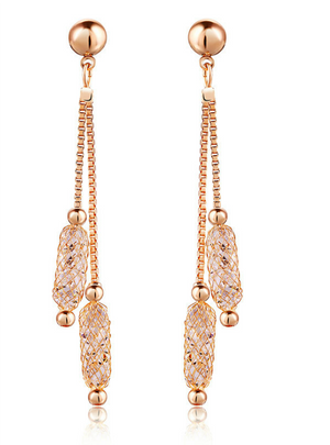 Gold Color Drop Earrings Wire Zircon Crystal