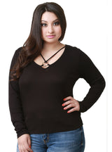 Long Sleeve T Shirt Solid Color Stretchy Basic