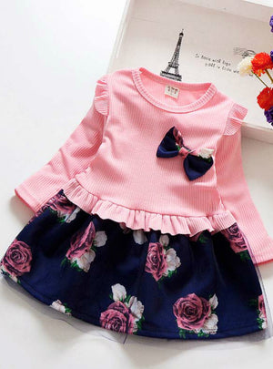 Girls Floral Clothes Children Girl Dress
