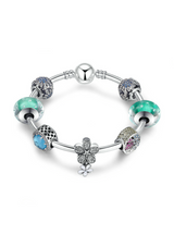 925 Sterling Silver Daisy Tropical Flamingo Bracelets
