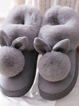 Winter Cotton Slippers Rabbit Ear Home Indoor Slippers