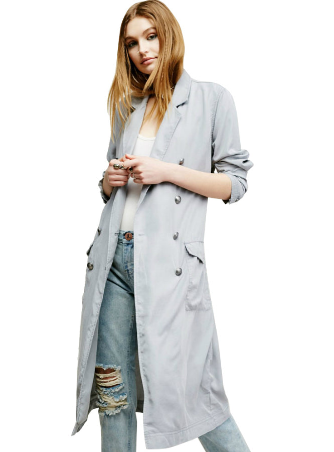 Slim Coats Long Sleeve Female Outwear Turn-down