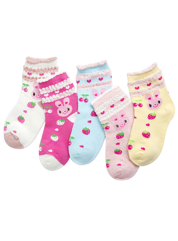 Cotton Socks Baby Toddler 5 Pairs / Lot