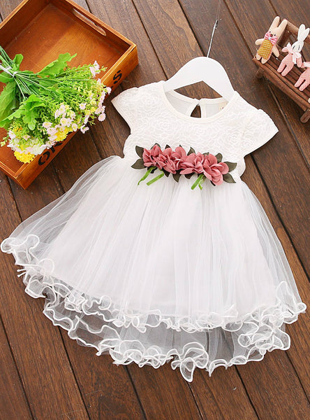 Floral Dress Princess Party Tulle Flower Dresses