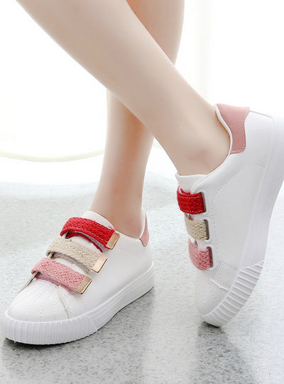 Women Shoes Breathable White Shoes Mixed Colors Fabric