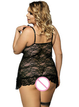 Floral Sheer Lace Picardias Eroticos Mujer Plus Size