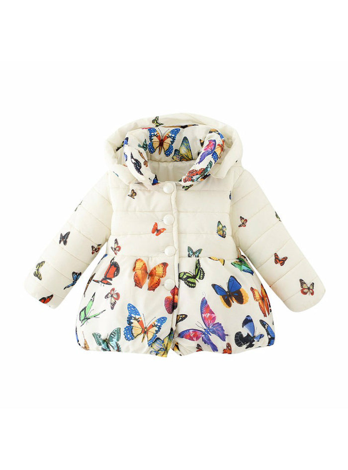 Infants Kids Cotton Butterfly Print Jacket