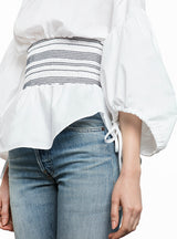 Women Shirts Blouse Casual Solid White lantern Sleeve