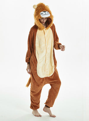 Lion Jumpsuit Cartoon Animal Pajamas