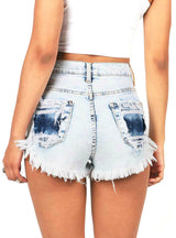 Denim Shorts Fashion Brand Tassel Ripped Loose