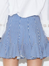 Sweet College Wind Hit Color Stripe Waist