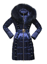 Down Jackets Royal cat Coats Real Raccoon Fur Female