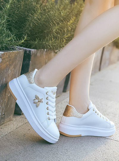 Women Sneakers Fashion Breathable PU Leather