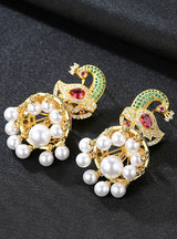 Phoenix Drop Earrings with Imitation Pearls Statement