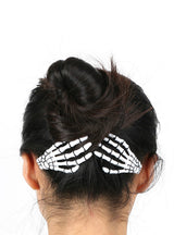 1 pair Fashion Hair Accessories Skeleton Claws Skull