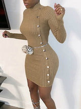 Sexy Skinny Mini Party Ladies Dress Winter