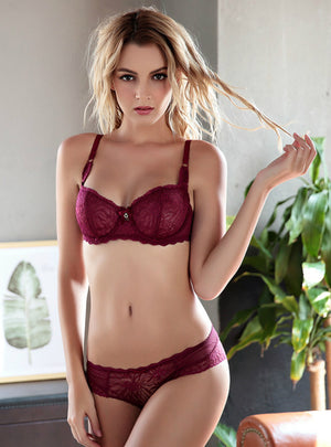 Thin Lace Ladies Bra Set Lingerie Bra