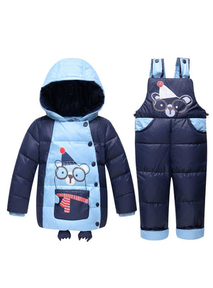 Winter Boys Girls Down Jackets Kids Snowsuit