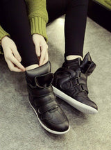 Hidden Wedges Sneakers Canvas Shoes Ladies